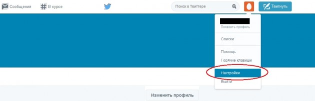 Скриншот главной страницы профиля в Твиттер