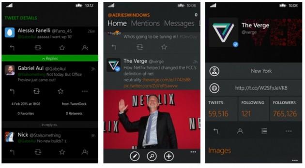 Интерфейс клиента Aeries для Windows Phone