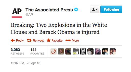 Фейковый твит о терактах в Белом доме