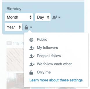Дата рождения в Твиттер