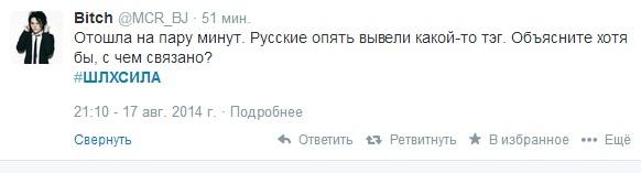 Скриншот твита с хештегом #шлхсила