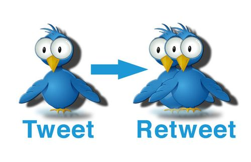 Твит и ретвит