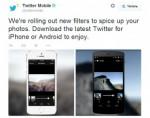 В мобильных версиях Twitter появились новые фотофильтры