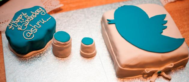 Тортик с символикой Твиттера